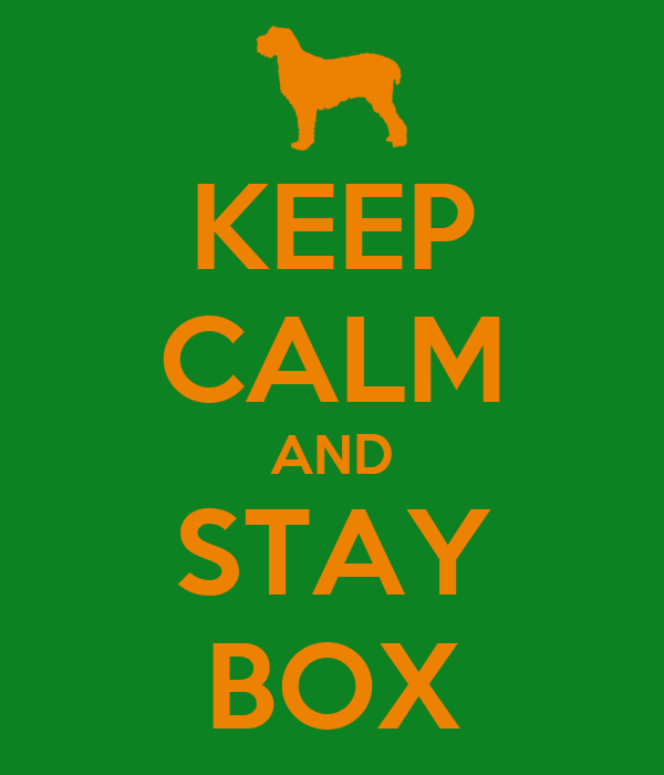 KEEP CALM AND STAY BOX