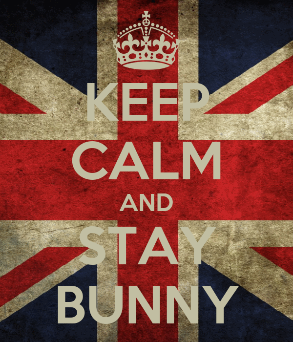 KEEP CALM AND STAY BUNNY