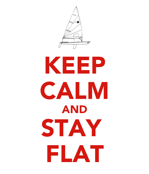 KEEP CALM AND STAY  FLAT