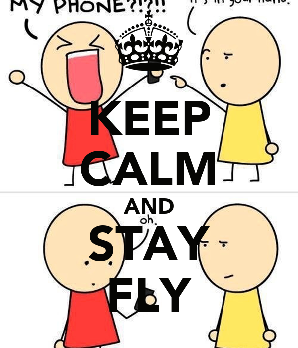 KEEP CALM AND STAY FLY