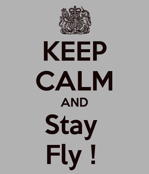 KEEP CALM AND Stay  Fly !