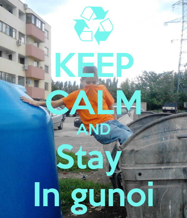 KEEP CALM AND Stay  In gunoi