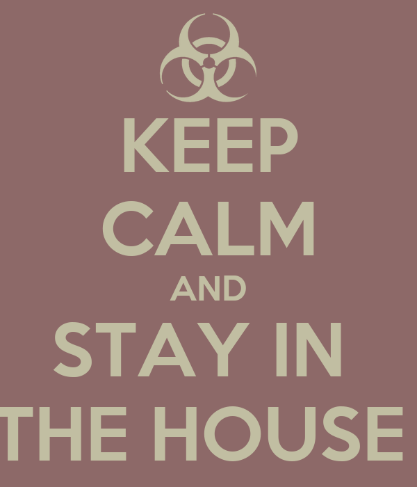 KEEP CALM AND STAY IN  THE HOUSE