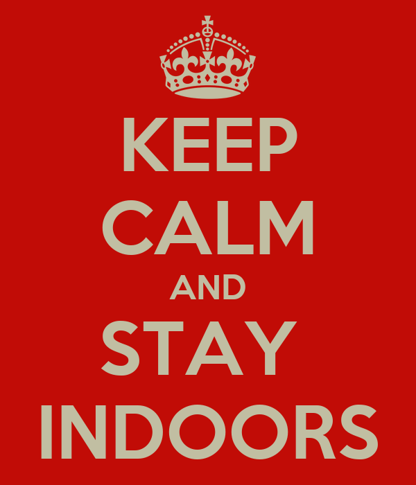 KEEP CALM AND STAY  INDOORS