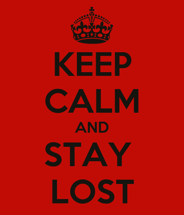 KEEP CALM AND STAY  LOST