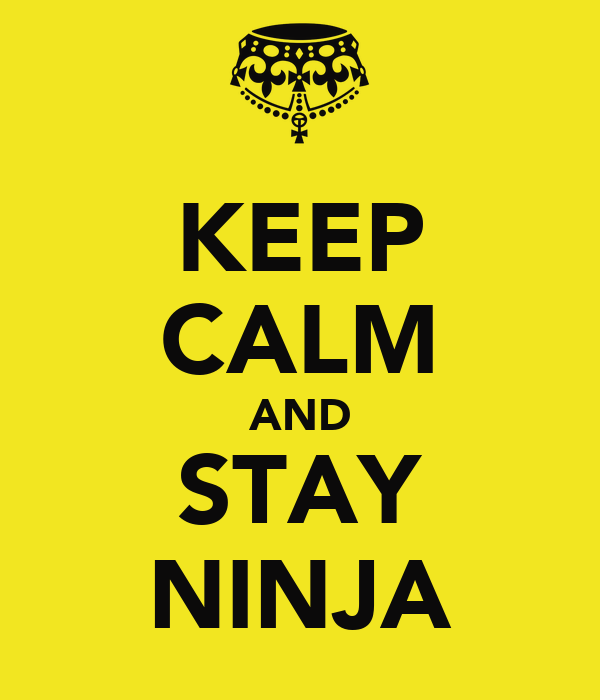 KEEP CALM AND STAY NINJA