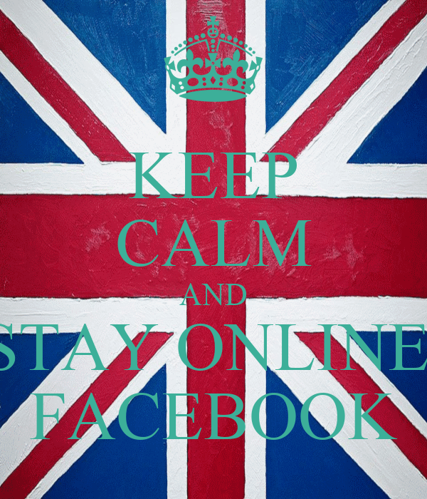 KEEP CALM AND STAY ONLINE  FACEBOOK