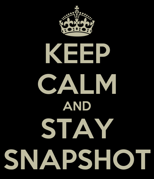 KEEP CALM AND STAY SNAPSHOT