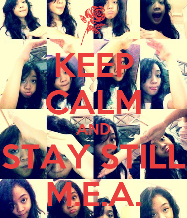 KEEP CALM AND STAY STILL M.E.A.