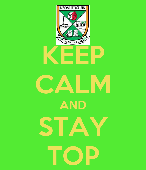 KEEP CALM AND STAY TOP