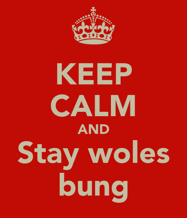 KEEP CALM AND Stay woles bung