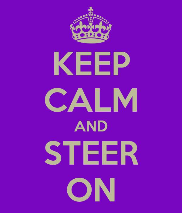 KEEP CALM AND STEER ON