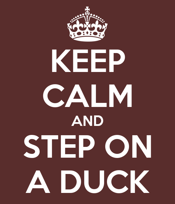 KEEP CALM AND STEP ON A DUCK