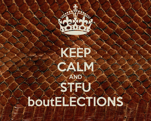KEEP CALM AND STFU boutELECTIONS