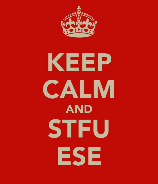 KEEP CALM AND STFU ESE
