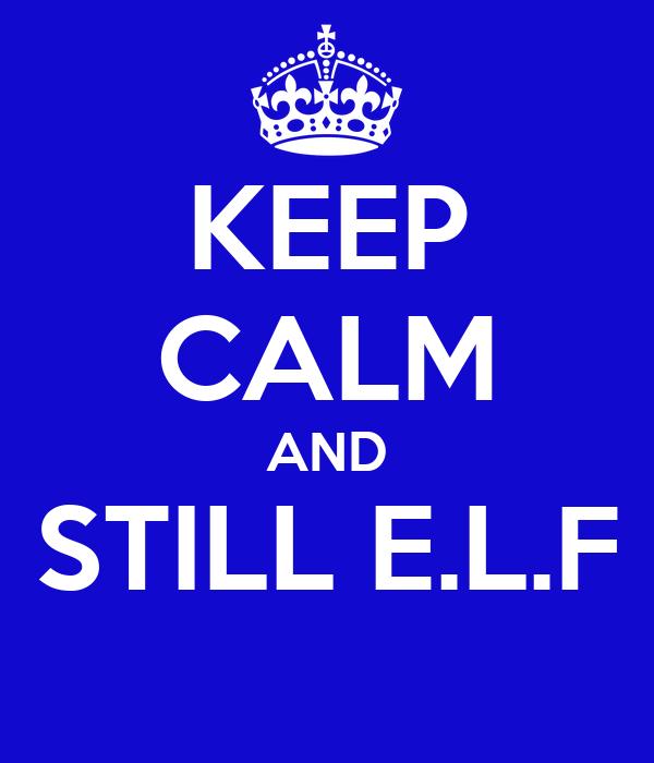 KEEP CALM AND STILL E.L.F