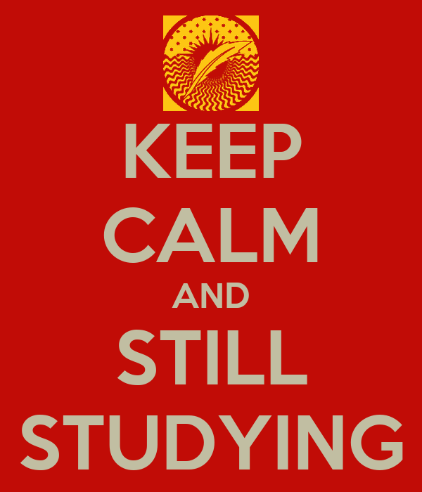 KEEP CALM AND STILL STUDYING