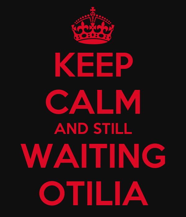 KEEP CALM AND STILL  WAITING  OTILIA