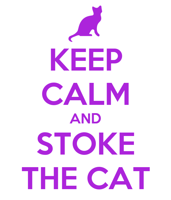 KEEP CALM AND STOKE THE CAT