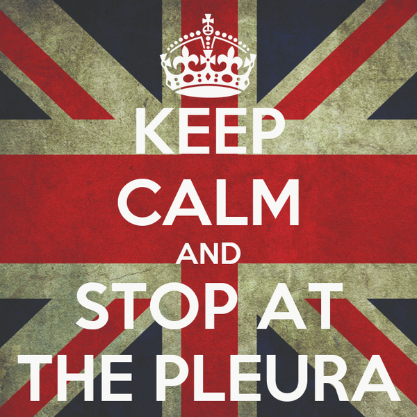 KEEP CALM AND STOP AT THE PLEURA