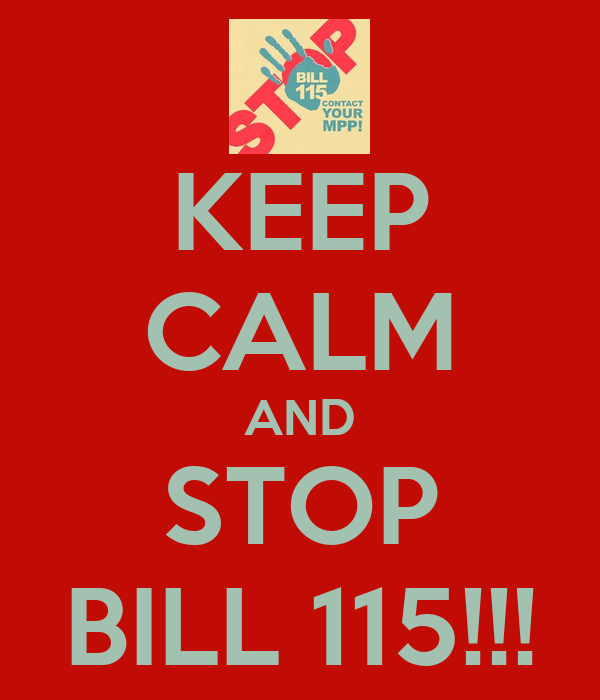 KEEP CALM AND STOP BILL 115!!!