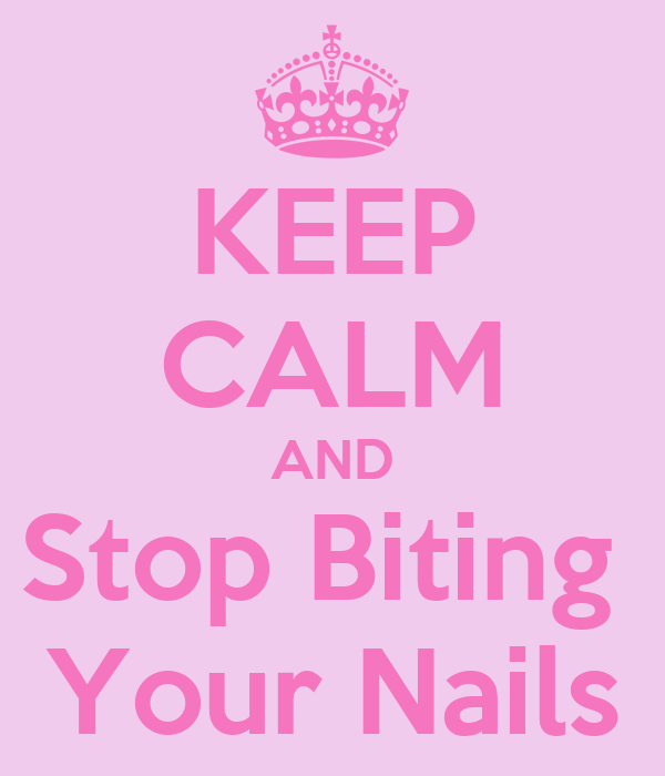 how to stop yourself from biting your nails