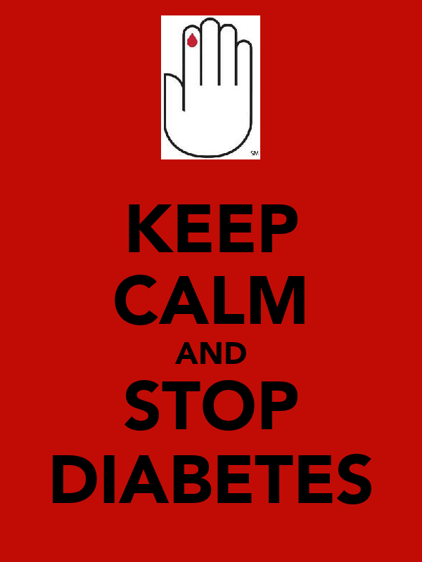 KEEP CALM AND STOP DIABETES