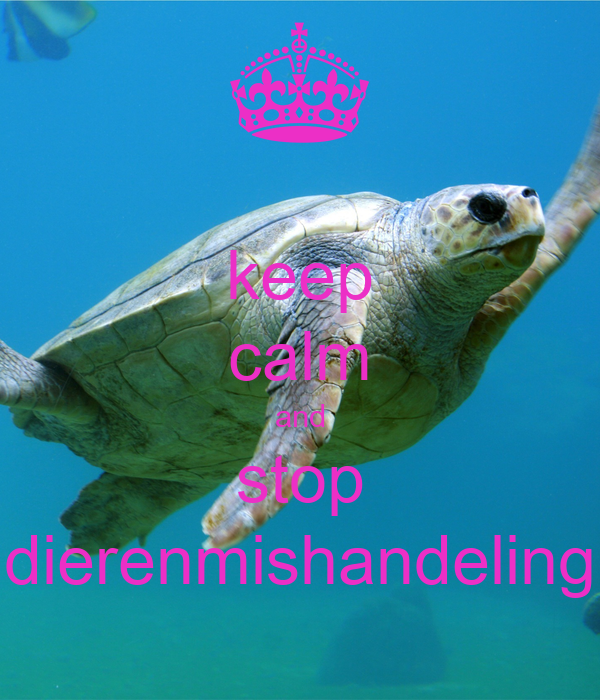 keep calm and stop dierenmishandeling