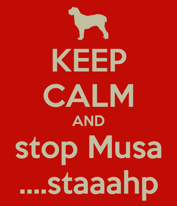 KEEP CALM AND stop Musa ....staaahp
