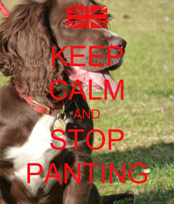 KEEP CALM AND STOP PANTING