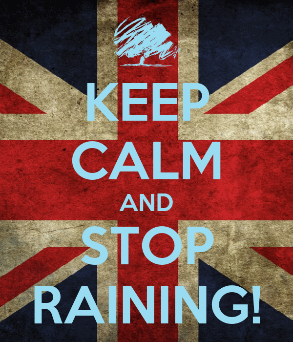 KEEP CALM AND STOP RAINING!