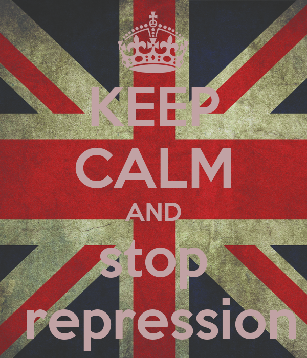 KEEP CALM AND stop  repression