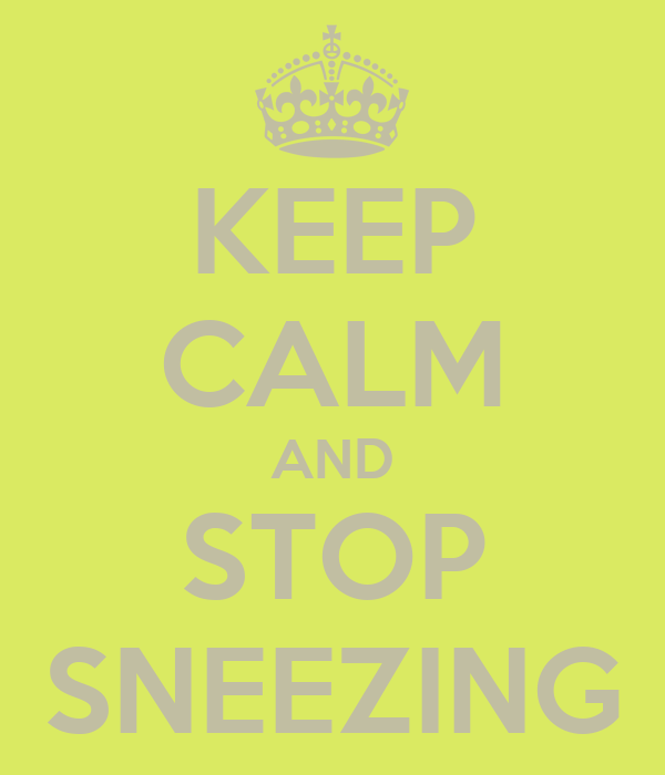 KEEP CALM AND STOP SNEEZING