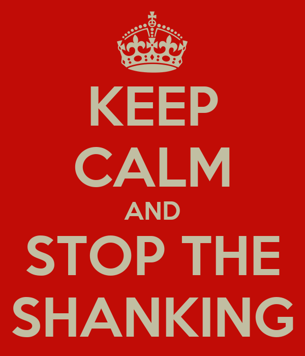KEEP CALM AND STOP THE SHANKING