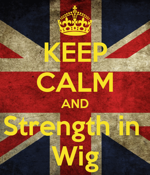KEEP CALM AND Strength in  Wig