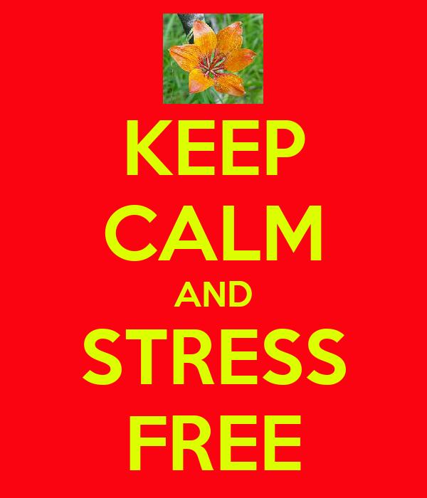 KEEP CALM AND STRESS FREE