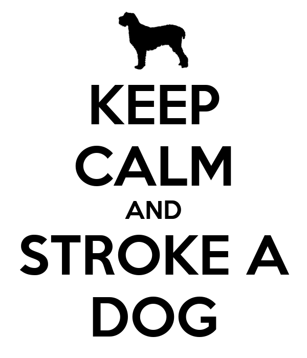KEEP CALM AND STROKE A DOG