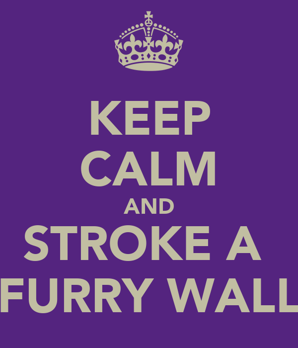 KEEP CALM AND STROKE A  FURRY WALL