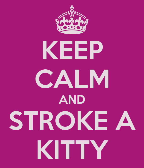 KEEP CALM AND STROKE A KITTY