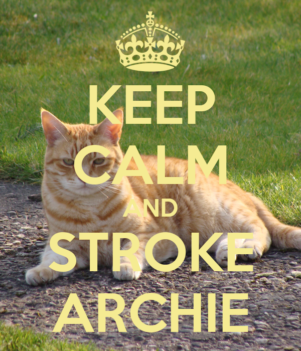 KEEP CALM AND STROKE ARCHIE