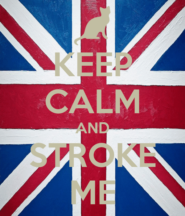 KEEP CALM AND STROKE ME