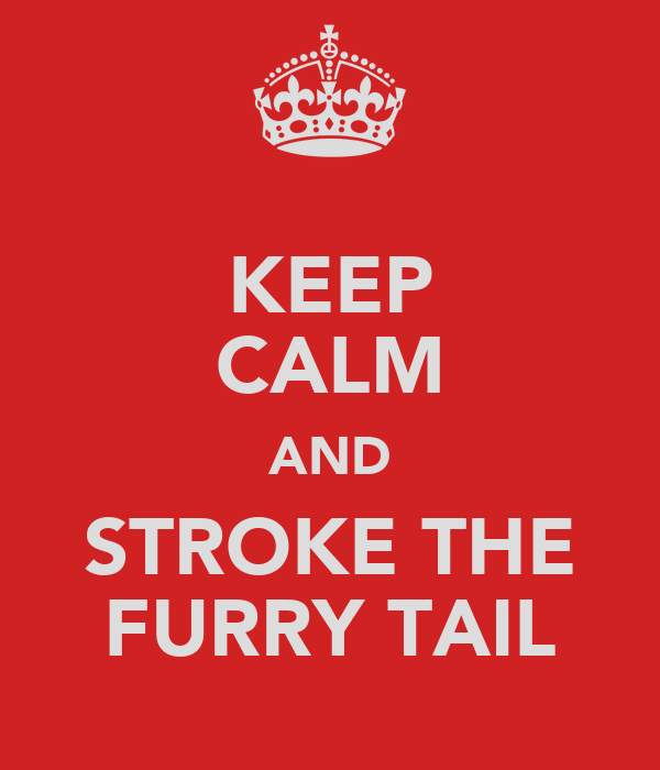 KEEP CALM AND STROKE THE FURRY TAIL
