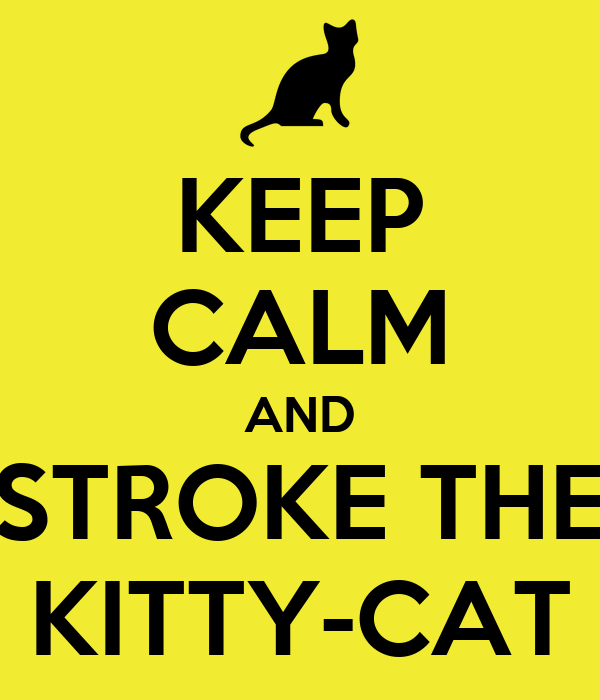 KEEP CALM AND STROKE THE KITTY-CAT