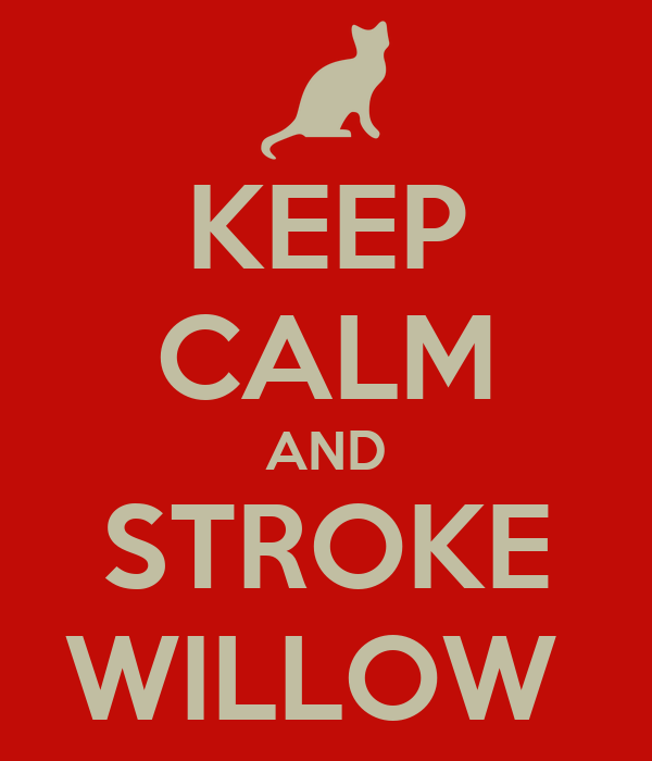 KEEP CALM AND STROKE WILLOW