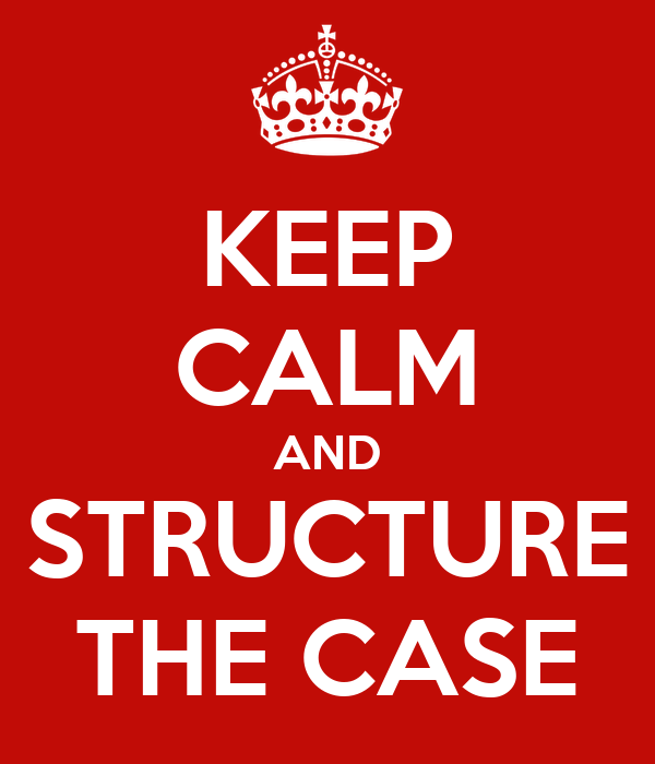 KEEP CALM AND STRUCTURE THE CASE