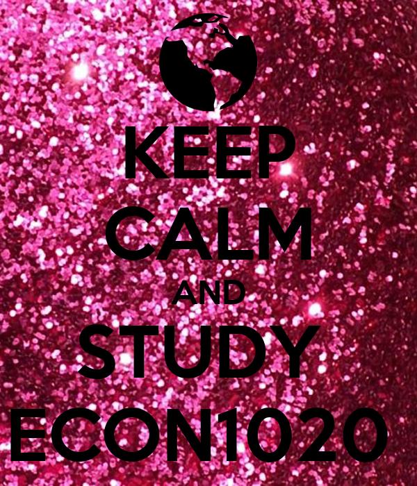 KEEP CALM AND STUDY  ECON1020