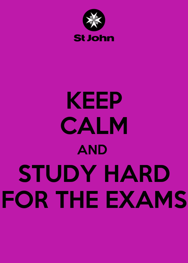 how to study hard for exams