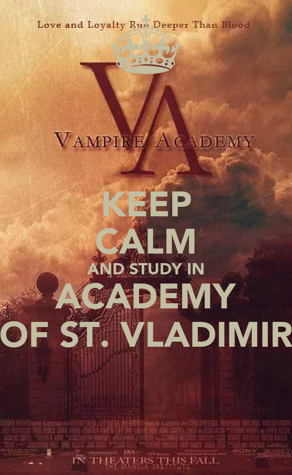 KEEP CALM AND STUDY IN ACADEMY OF ST. VLADIMIR
