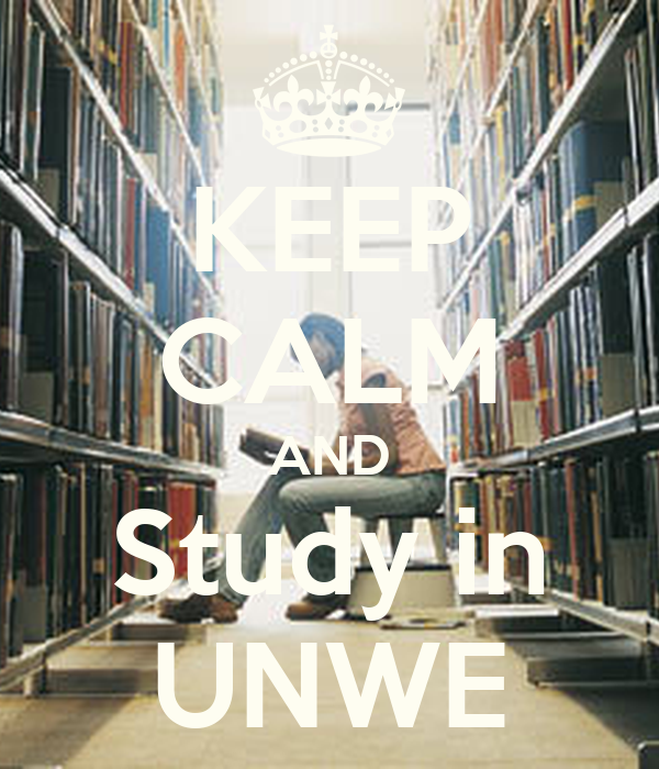 KEEP CALM AND Study in UNWE