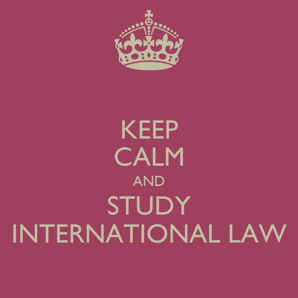a study on international law Study law as an international student and learn all about the various aspects of what is needed.